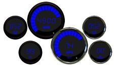 METRIC INTELLITRONIX DIGITAL GAUGE SET w/ Chrome Bezels in BLUE LEDs KPH Celsius