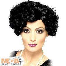 Short Black 1920s Flapper Wig Ladies Fancy Dress Charleston 20s Womens Accessory