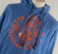 Preworn Blue Graphic Cotton Mens Hoodie Size M