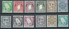 Ireland Stamps 106-17 SG 111-22 x121a MLH F/VF 1940-42 SCV $232.75*