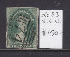 Tasmania: 2d Deep Green Qv Chalon Sg33 Fine Used.