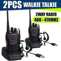 2 x Baofeng Walkie Talkie 2Way Radio Handheld Long Range Marine Police 16CH GMRS
