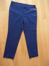 📣L@@K🌷NWT🌷Anne Klein🌷Blue cropped pants S 8🌷97% Cotton front zip pocket