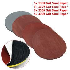 "20pcs 5"" 1000/1500/2000/3000 Grit Sanding Disc Hook Loop Sandpaper Sand Paper"