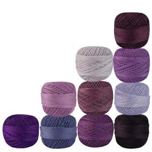 Cotton Crochet Thread Embroidery Mercerized Cross Stitch Knitting Yarn Size 40