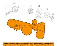 Infiniti NISSAN OEM 11-12 G25-Serpentine Drive Fan Belt 117204P10A