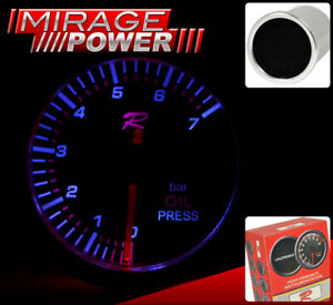 Racing Monitor Meter Dial Needle Gauge Motor Oil Pressure For Subaru Mazda Scion