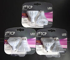 TCP LED Spotlight, Warm White, Non-Dimmable 4W GU10, 3x2 Bulbs