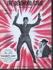 The Deadwood Stage (Whip Crack Away) 1943 Doris Day in Calamity Jane Sheet Music