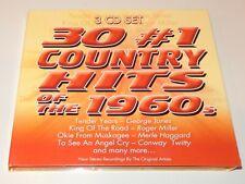 30 #1 Country Hits Of the 1960s [Digipak] George Jones Roger Miller (CD, 3-Disc)