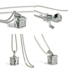 Love Box Alloy Urn Cremation Pendant Necklace Ash Holder Keepsake For Pet