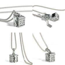 Love Box Alloy Urn Cremation Pendant Necklace Ash Holder Keepsake For Pet