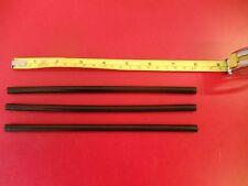 "3 P-tex Ptex rods candles BLACK to repair Ski or Snowboard bases 8"" long"