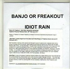 (CI877) Banjo Or Freakout, Idiot Rain - 2011 DJ CD