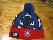 Captain America New Era Winter Ski Hat Big Face Marvel Comics Brand New 0133