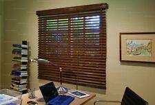 """2"""" Faux Wood Window Blinds ** 63"""" w x 70 3/4"""" L - Teak color"""