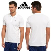 adidas Essential White Polo Shirt Men's Casual Sports T-Shirt SALE RRP £40
