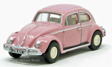 Oxford Volkswagen VW Beetle Pink Die-Cast Metal 1/76 OO Scale