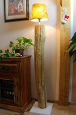 XL madera de combustible Lámpara de pie teca MACIZO TAILANDIA Natural