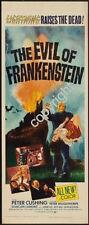 Evil Of Frankenstein Movie Poster Insert 14x36 Replica