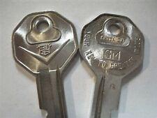 2 NOS 1967 Original Cadillac Eldorado De Ville Fleetwood V Crest Logo Key Blanks