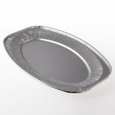 "10x 14"", Disposable Embossed Oval Foil Platters, Buffets, Food, Catering, Trays"