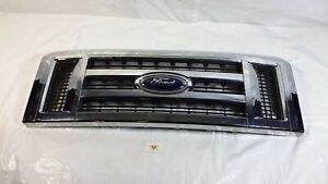 2008-2014 Ford E150 E250 Bumper Grille Grill OEM Front Chrome Plated