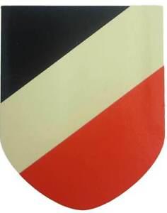 WW2 German Helmet Decal National Colours Transfer ET & EF Face Up & Down M35 M40