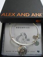 Alex and Ani AQUARIUS III Zodiac Expandable Wire Bracelet Rafaelian Silver NWTBC
