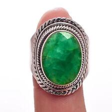 Anillos de joyería con gemas anillo con piedra esmeralda