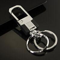 New Luxury Men Metal Car Key Chain Ring Creative Keyring Keychain Keyfob Gift