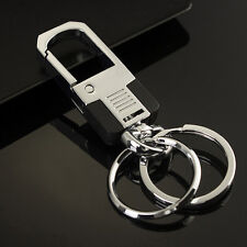 Cool Luxury Men Metal Car Key Chain Ring Creative Keyring Keychain Keyfob Gift