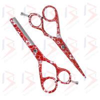 Pink Professional Scissors Barber Salon Thinning Hairdressing Sharp Hair Cutting