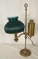 ANTIQUE 19th CENTURY BRASS STUDENT LAMP