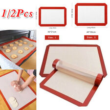 2 Pack Silicone Baking Mat Non Stick Heat Resistant Liner Oven Cookies Sheet Mat