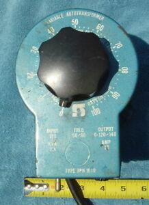 Staco Variable Autotransformer 0-120/140V 10 Amp. Output Model 3PN1010