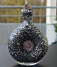 Älteres Schnupftabakglas - Glückspfennigbixl schwarz mit Silberglitter ! Nr. 120