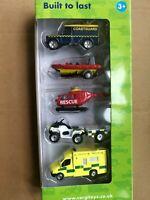 Corgi Toys 1:64 Scale Diecast 5 Rescue Car Models Set TY66089U Alloy Vehicle Toy