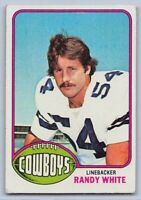 1976  RANDY WHITE - Topps Football Rookie Card # 158 - DALLAS COWBOYS