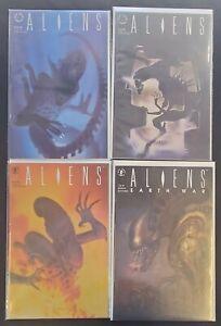 4PC ALIENS LOT (4.0) #2-4, EARTH WAR #1!! 1989
