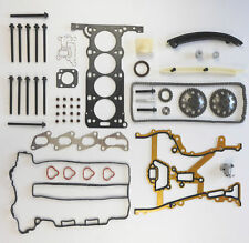 FOR VAUXHALL OPEL CORSA C 1.2 16V Z12XE TIMING CHAIN KIT HEAD GASKET SET BOLTS