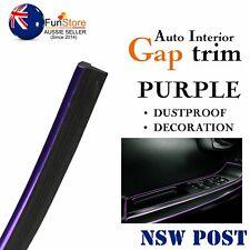 Chrome Purple Molding Gap Trim Vehicle Door Dash Board Accessory Edges Decor 12M