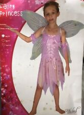 FAIRY PRINCESS PINK FAIRY GIRLS HALLOWEEN FANCY DRESS UP COSTUME SMALL REDUCED