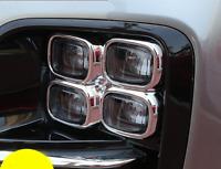 ABS Chrome Front Fog Light Lamp Trim Cover Garnish For Kia Sportage 2017-2018
