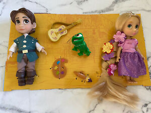 "Rapunzel and Flynn Disney Animators Collection 5"" Mini Doll Princess Tangled NEW"