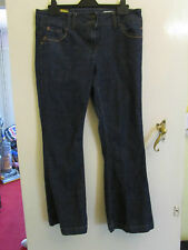Low Rise Dark Blue Red Herring Debenhams Boot Cut Jeans in Size 14 - L29