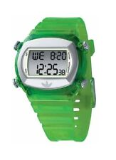 NEW ADIDAS CANDY GREEN DIGITAL RESIN PLASTIC,ALARM,CHRONOGRAPH WATCH ADH1575