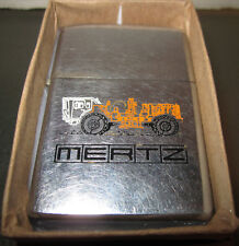 Zippo Lighter vintage 1976 MERTZ construction Equipment Truck Nice