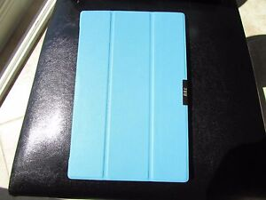 "FYY Sony Xperia Z2 10"" Tablet Book Cover Case Blue Magnetic Close On/Off"