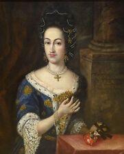 Grandi BELLE XVII secolo italiano Portrait Lady CASTELLA antico pittura ad olio